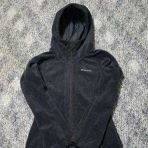 Columbia Women's Hooded Fleece Jacket XS Black